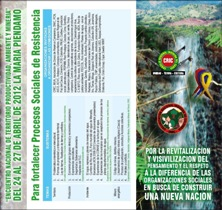 """Programa """"Encuentro Nacional de Territorio, Productividad, Ambiente y Minería"""""""
