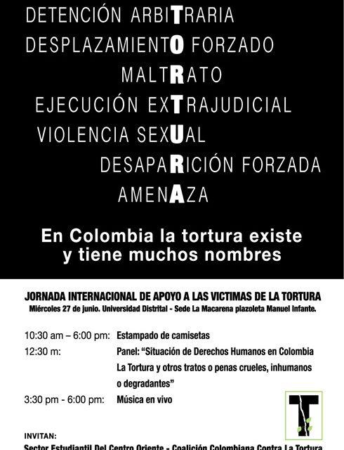 Jornada internacional de apoyo a las víctimas de la tortura