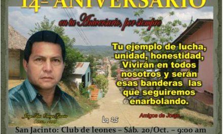 Homenaje a nuestro compañero Jorge Ortega García