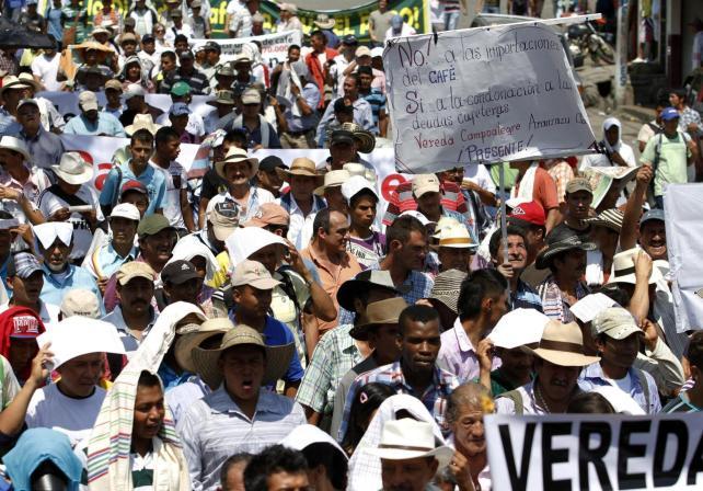 Movimiento campesino de Cajibio: Estamos en el paro cafetero!!!