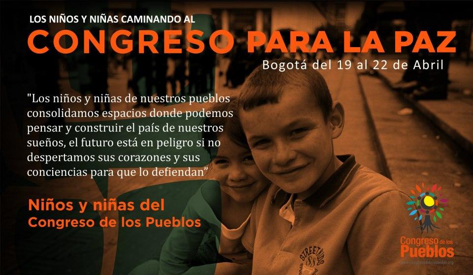 Los niños y niñas caminan la palabra y mandatan para paz