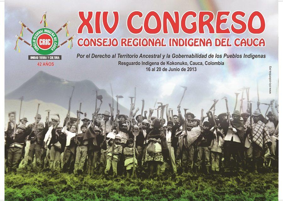 Con éxito inicia el XIV Congreso Regional Indígena del Cauca