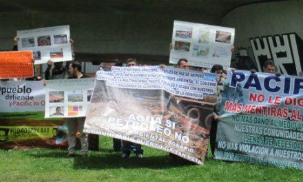 Termina la primera jornada de denuncia:  ¡Pacific no es Colombia!