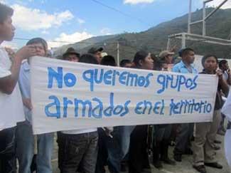 Comunidades indígenas exigen respeto por su autonomía