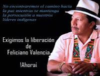 Acción urgente por la libertad de Feliciano Valencia