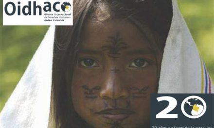OIDHACO, 20 años a favor de la paz y los derechos humanos en Colombia