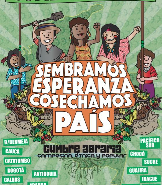Llegan las cumbres de paz al territorio nacional: Ruralidad popular colombiana reflexiona la paz