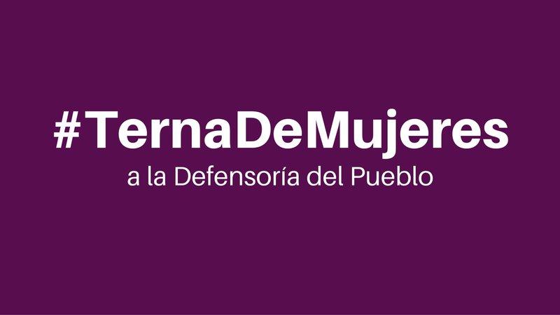 Organizaciones sociales y de derechos humanos, instan a que terna para Defensoría sea conformada por tres mujeres