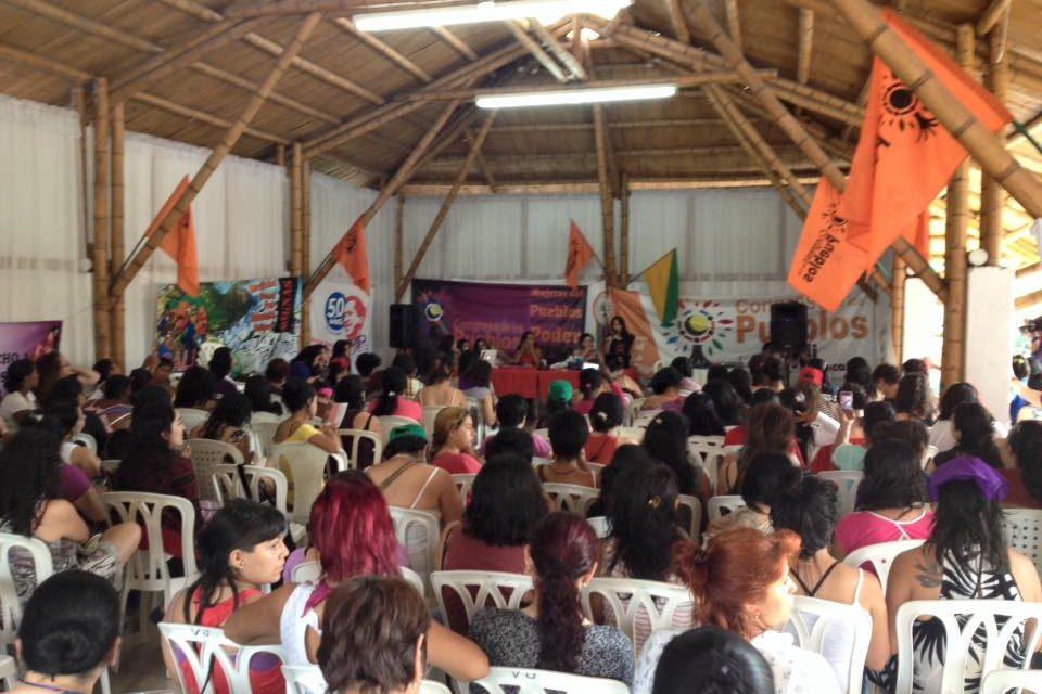 Primer encuentro nacional de mujeres del congreso de los Pueblos: compañeras Berta Cáceres y Maricela Tombé