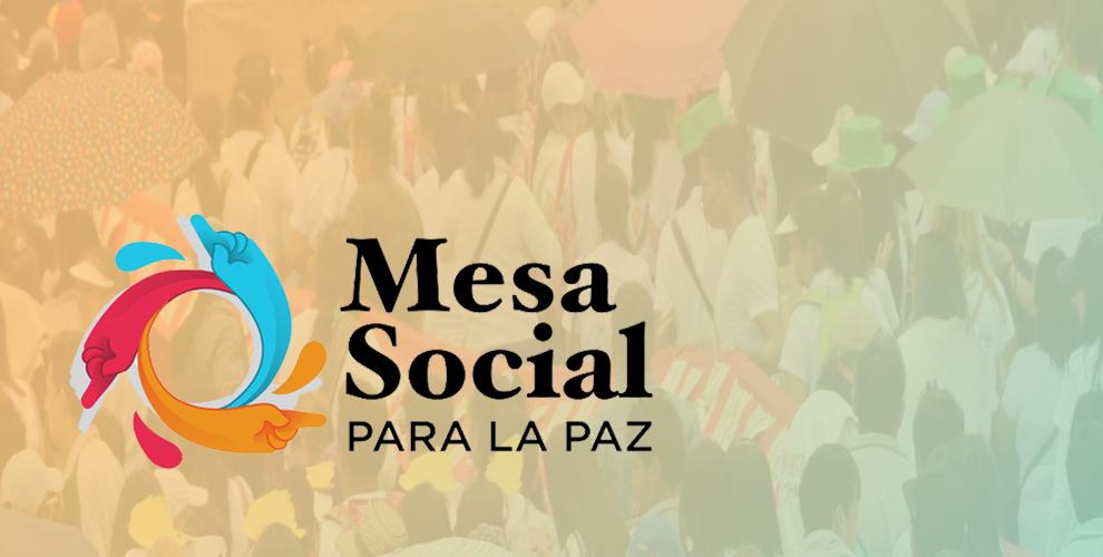 Carta de la Mesa Social para la Paz a delegaciones del gobierno nacional  y ELN