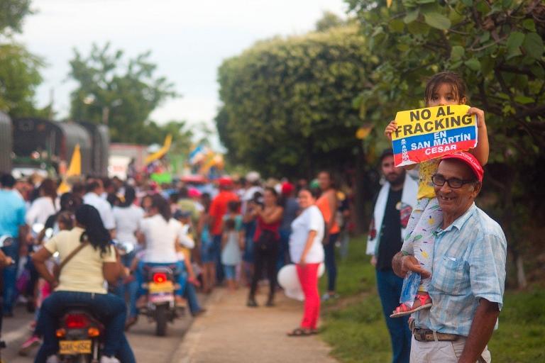 Comunidades de  San Martín, Cesar, se niegan al uso del Fracking