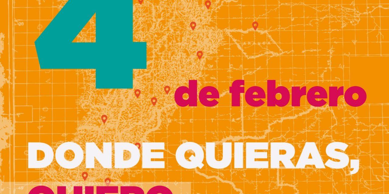 100 Encuentros diversos por la participación y la paz: 4 de febrero de 2017 en todo el país