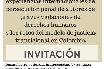 Persecución penal de autores de graves violaciones y retos de la justicia transicional