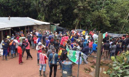 Comunidades del Alto Bobalí  instalan asentamiento humanitario