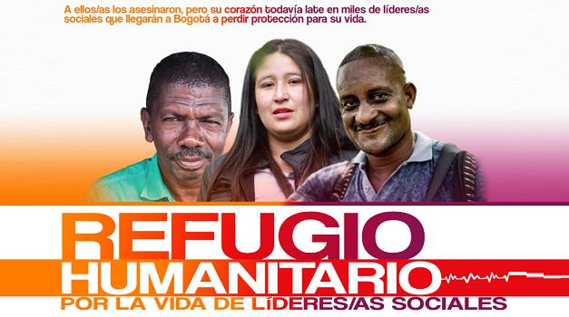 Líderes y lideresas sociales de toda Colombia llegaron a Bogotá para instalar el Refugio Humanitario por la vida