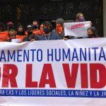 Instalan Campamento humanitario por la vida ante la crisis humanitaria en Colombia