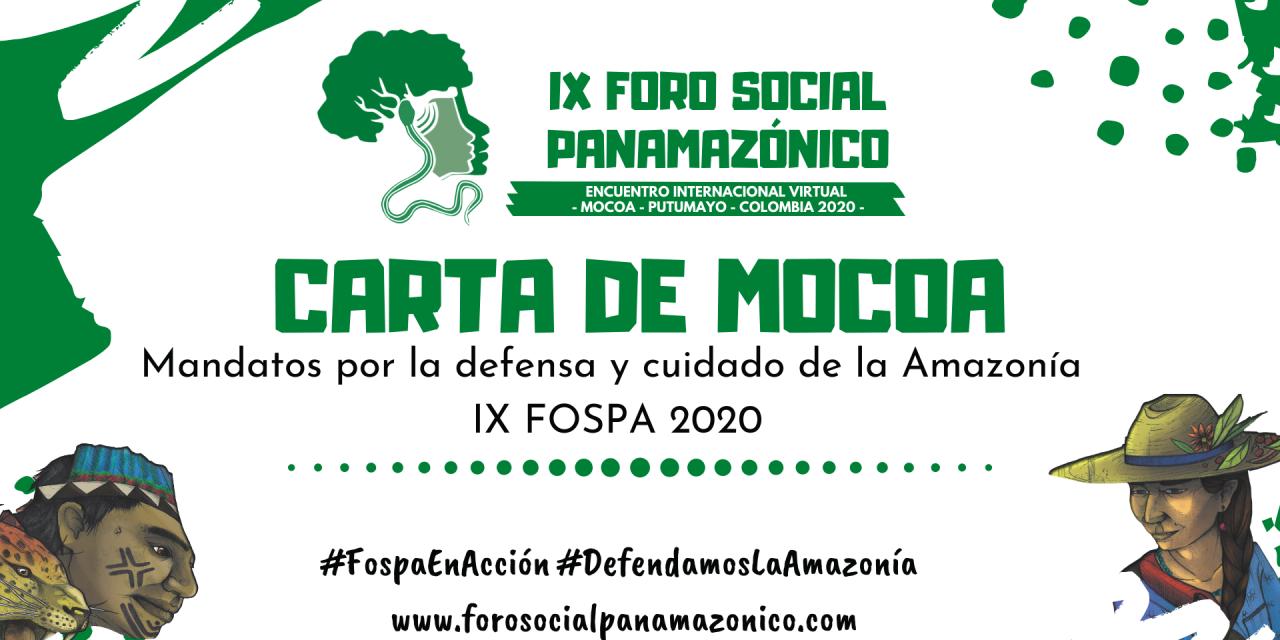 CARTA DE MOCOA- MANDATO IX FOSPA 2020