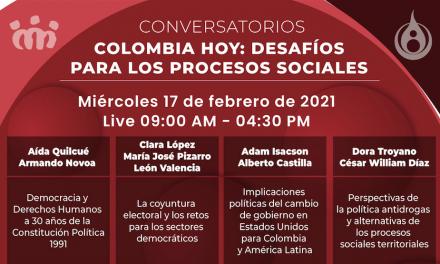 [Conversatorios] Colombia hoy: desafíos para los procesos sociales
