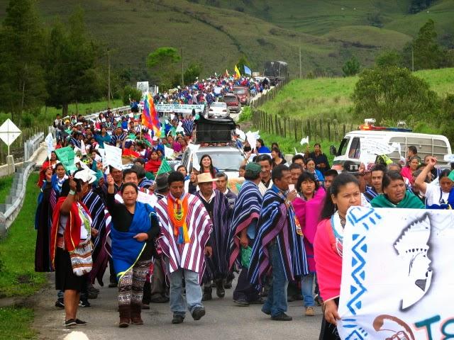 Ingas y Kamentsa se movilizan en defensa del territorio y el derecho a la vida