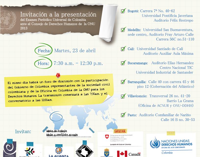 Presentación del Examen Periódico Universal de Colombia ante la ONU