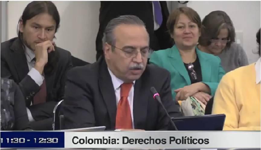 Audiencia CIDH sobre Derechos Políticos en Colombia  24 de marzo de 2014