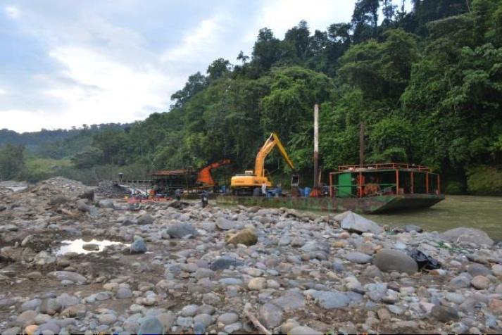 Indígenas Awá ejercen control ante amenaza de minería ilegal