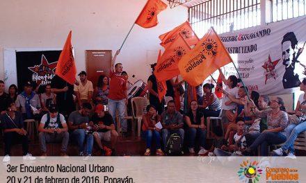 Declaración Política Tercer Encuentro Urbano Nacional