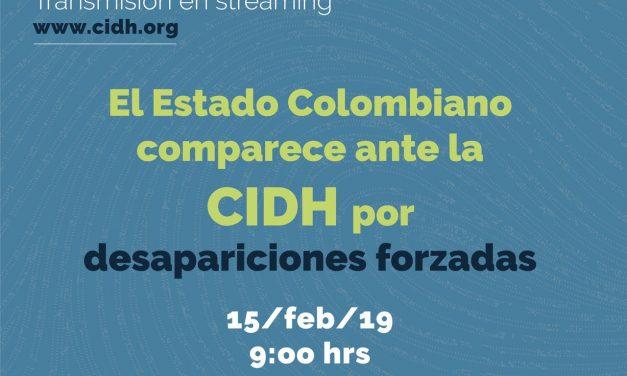 Estado colombiano comparece a CIDH por desapariciones forzadas