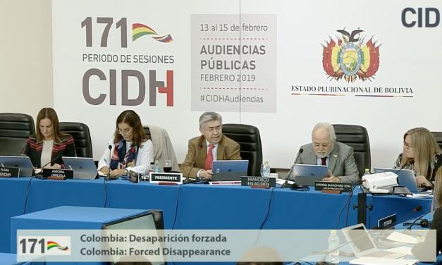 En Video: Así fue la audiencia de Colombia en la CIDH por casos de desaparición forzada