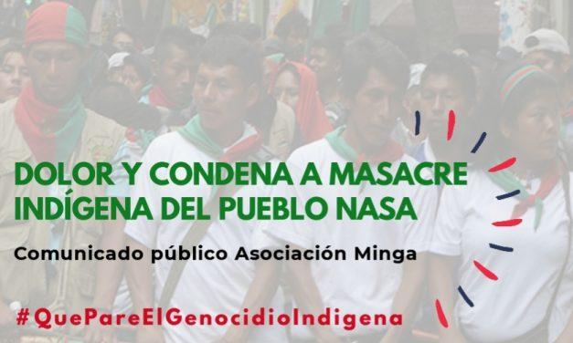 Dolor y condena a masacre del pueblo indígena Nasa