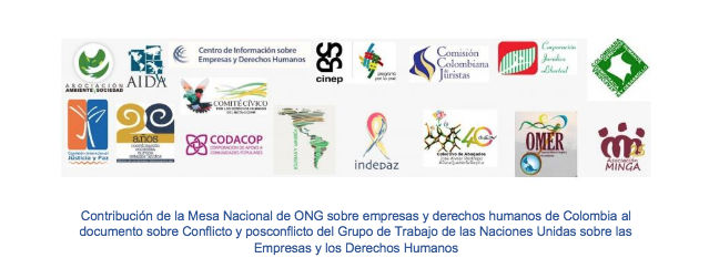 Contribuciones al grupo de trabajo de ONU sobre empresas y derechos humanos