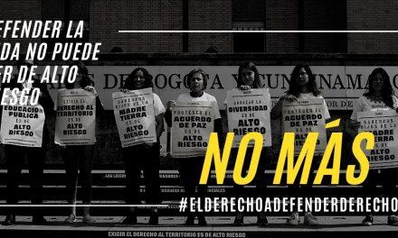 Tribunal Superior de Bogotá reitera que el derecho a defender derechos humanos de líderes sociales debe ser protegido
