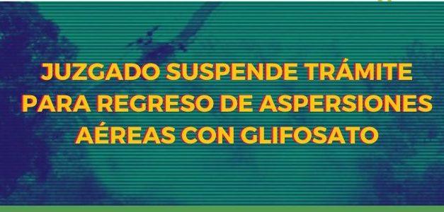 Juzgado suspende trámite para regreso de aspersiones aéreas con glifosato