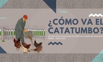 ¿Cómo va el Catatumbo? Informe sobre situación de vulneración de DDHH Enero- junio 2020