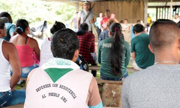 Comunicado público: Seguimos defendiendo la vida, la autonomía, el derecho al territorio y la dignidad del pueblo Awá